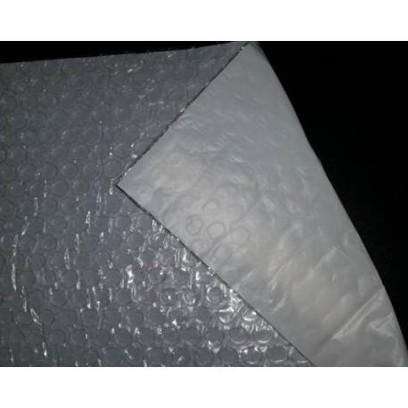 Film bulle avec film PE blanc contrecollé
